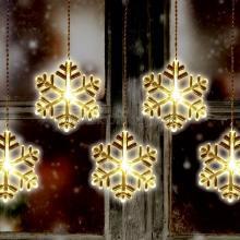 LED svetelný záves, snehová vločka KAF 8/F