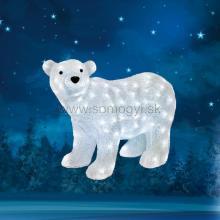 Dekorácia ľadový medveď, akryl, 42x58cm, IP44, 230V KDA 6