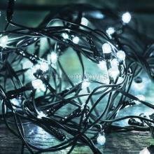 LED svetelný reťazec, 100 studených bielych LED, 8pr., na vonkajšie použitie LED 108C/WH
