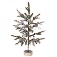 LED dekorácia na stôl, zasnežený stromček KMF 80